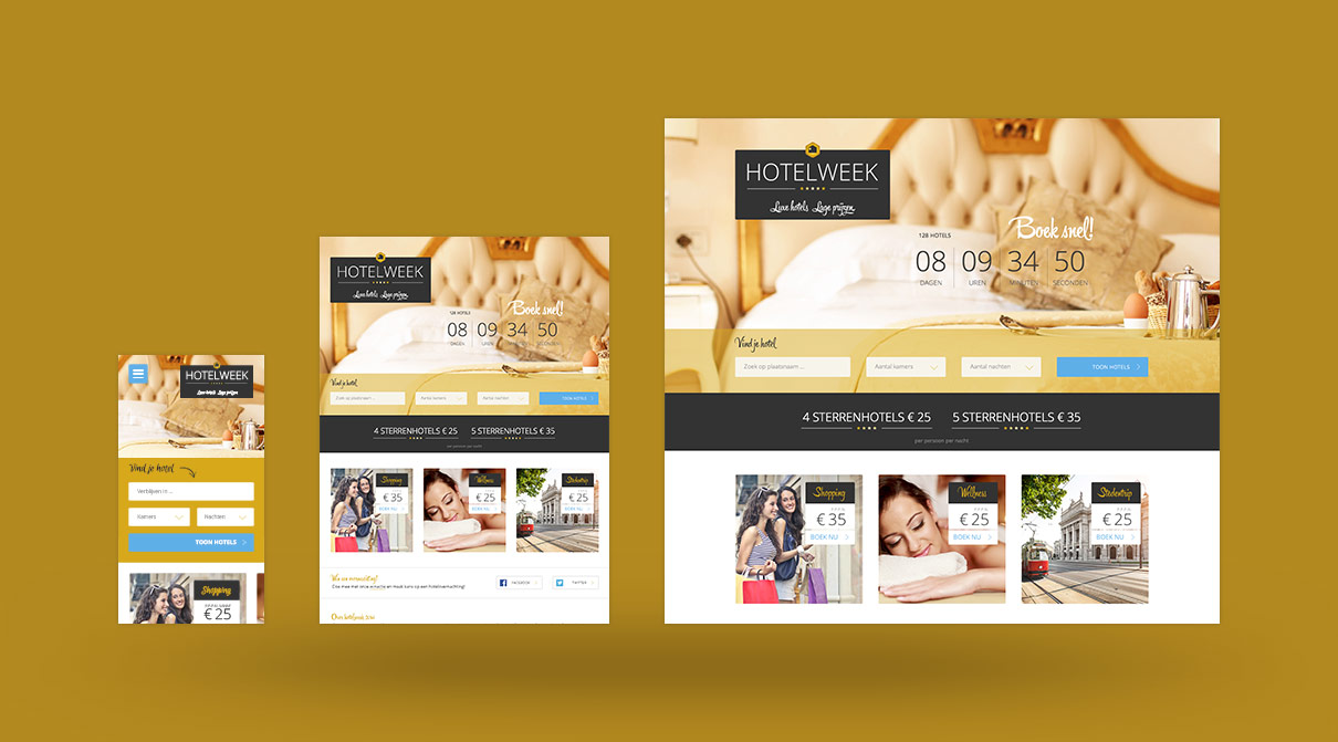 Redesign website hotelweek.nl - HotelWeek